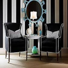 Black And White Striped Accent Chair Black And White Striped Wall Design Ideas