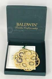 baldwin present brass ornaments