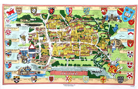Oxford England Map by Alice In Wonderland Oxford Map Tea Towel