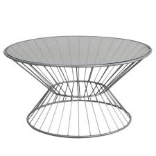 Wire Coffee Table Fashion N You Wire Coffee Table With Glass Top Reviews Wayfair