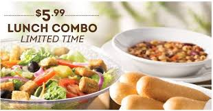 olive garden unlimited 5 99 lunch combo