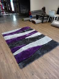 Purple Shag Area Rugs 2 Set Handmade Vibrant Gray With Purple Shag Rug Rug