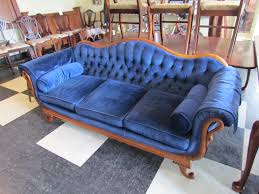 Navy Tufted Sofa by Fresh Singapore Navy Blue Tufted Couch 11138
