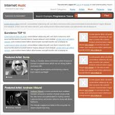 internet music template free website templates in css html js