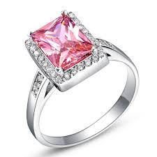 Square Wedding Rings by Online Get Cheap Pink Square Ring Aliexpress Com Alibaba Group