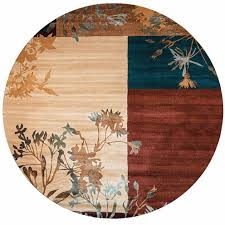 Rizzy Home Rugs Rizzy Home Bellevue Block Floral Round Rugs Jcpenney