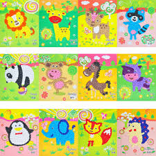 crumpled colored paper clipart collection