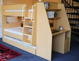 Bunk Bed With Desk And Trundle Olympic Bunk Beds With Trundle Bed And Workstation Desk Beech