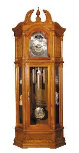 rissa traditional pendulum grandfather clock oak decorative
