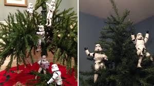 wars christmas decorations wars stormtrooper toys set up christmas tree in viral