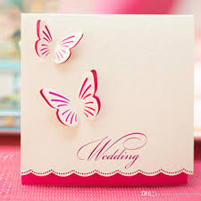 cheap wedding invitations online wedding invitations butterfly style fancy design invitation card