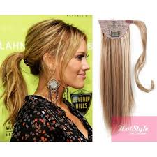 real hair extensions clip in clip in ponytail wrap braid hair extension 24 mixed