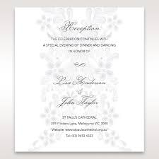 Wedding Reception Card Sophisticated Garden Blooms Floral Wedding Reception Card