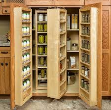 Kitchen Pantry Cabinets Wood Storage Cabinets With Doors Varnished Oak Kitchen Pantry