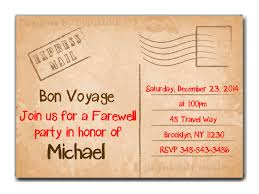 Invitation Cards Party Travel Farewell Party Invitation Bon Voyage Going Away Party