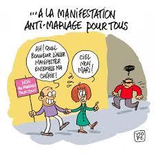 dessin humoristique mariage manifestation anti mariage pour tous ysope dessin de presse