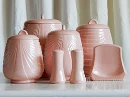 pink kitchen canisters creatively graceful pink deco swag canister set