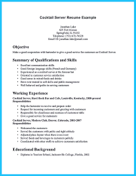 resume exle for server bartender do you know how to make a powerful and interesting bartender