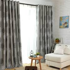 grey tree patterns linen cotton bend curtain country