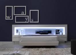 ultra modern bedroom furniture spain made ultra modern platform bed w led headboard upholstered