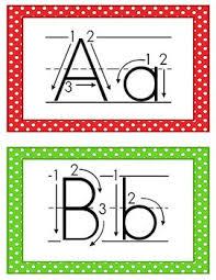 printable alphabet letter cards alphabet cards correct letter formation free printables student