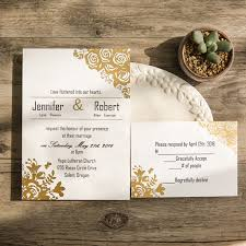 wedding invitations gold and white affordable traditional gold foil floral wedding invitation ewfi014