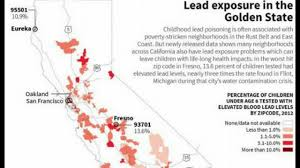 San Francisco Zip Code Map Neighborhood by Lead Poison In