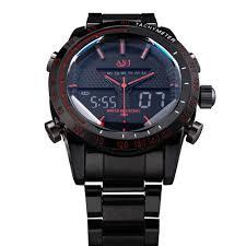 2016 fashion brand design digital led man male clock steel cool