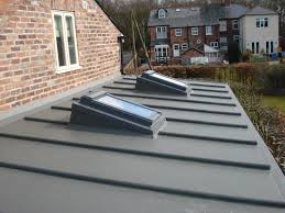 lead roll finishes can make a flat roof more attractive and help