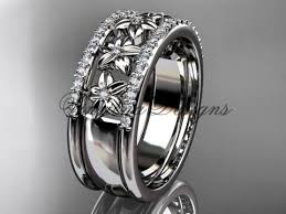 Flower Wedding Ring by Anjay U0027s Designs Wedding Bands Vinsienadesigns Com