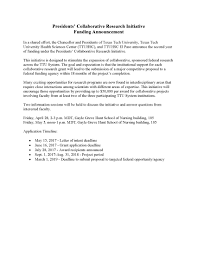 collaborative research initiative funding announcement