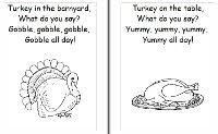 thanksgiving theme pictures and rhymes