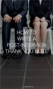 Thank You Letter After Interview Project Manager 43 Best Job Interview Thank You Note Examples And Wording Images