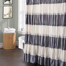 Gray Ruffle Shower Curtain Curtains Ideas Grey Ruffle Shower Curtain Inspiring Pictures