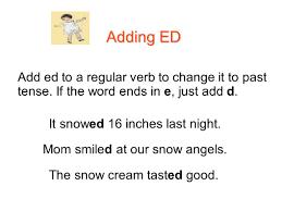 level 3 language arts with ms sheri lesson 29 adding ed verbs