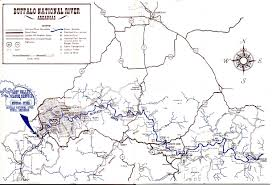 Map Buffalo Buffalo River Map Arkansas Popular River 2017