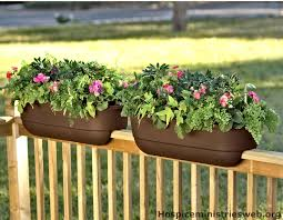 deck flower ideas garden ideas