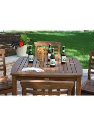 Bar Height Patio Furniture Set - bar height table outdoor bar table eucalyptus patio bar table