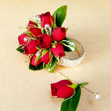 wrist corsage u0026 buttonhole set brisbane formal flowers