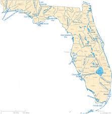 florida map map of florida lakes streams and rivers