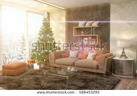 in the livingroom beautiful living room interior hardwood floors stock photo