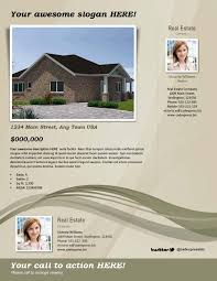 real estate flyer template u2013 beige