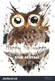 symbol halloween stuff owl large yellow stock illustration
