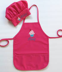 personalized apron and chef hat for childrens
