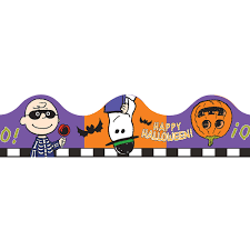 peanuts halloween scalloped bulletin board trim eureka