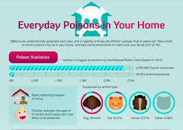 Toxicity Of Household Products by Toxic Home Goods Statistics Poison Infographic