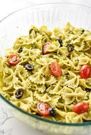 incredibly easy pesto pasta salad project meal plan