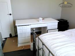 Menards Living Room Furniture Desk Makeover With Menards Chalk Paint Hometalk