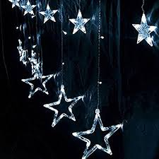 New Years Decorations Amazon by Buy 2m 220v Curtain Star String Lights Christmas New Year