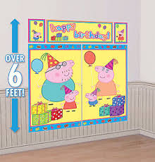 peppa pig decorations peppa pig setter happy birthday party wall decorations kit